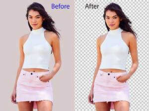 I will do 20 background removal and crop image