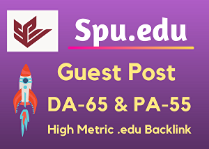 I will Write and Publish Guest post-Spu.edu DA 65 With Backlink