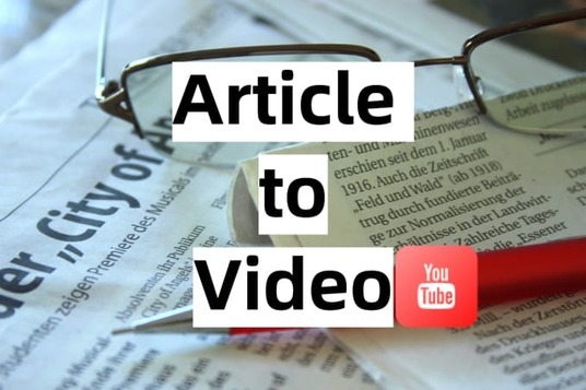 convert article to video, blog to video