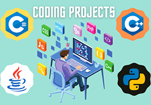 I will do programming projects in CPP, java, and c sharp