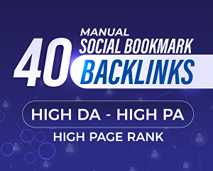 I will Manually Submit Your Website to 40 Social Bookmarking Sites