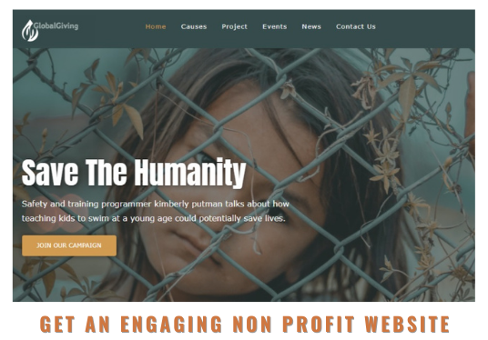 create a website for your charity, NGO, nonprofit, fundraising organization