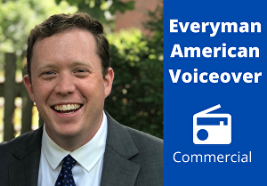 I will record an American everyman voiceover for commercials