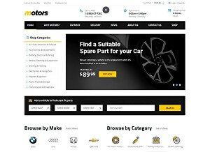 I will design your fully responsive auto parts website in wordpress