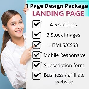 I will Develop a Professional Landing Page or 1 Page Website for Your Business