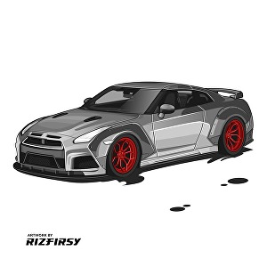 I will draw your car into amazing vector art