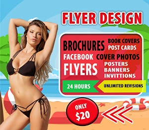 I will design creative flyer or brochure for you within 24  hours