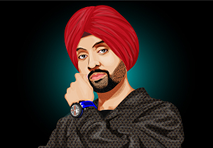 I will draw amazing colorful vector  portrait from your photo