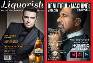 I will design magazine covers, layouts, and ads