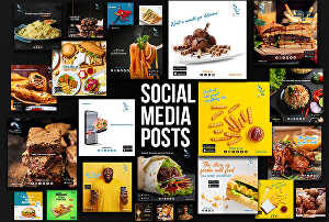 I will create 30 unique social media posts designs for a whole month