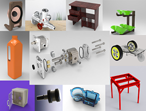 I will do 3d cad modeling, stylish product design, rendering, STL file