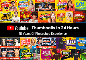 I will Design an Attractive Thumbnail For You In 24 Hours