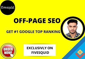 I will do off-page seo to rank your website