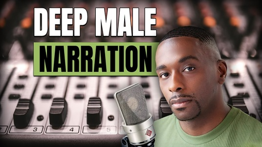 record Narration with a Deep Male Voice