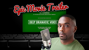 I will record A Deep Dramatic Trailer Voice Over