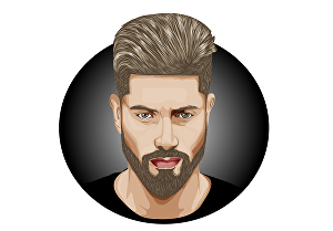 I will draw an amazing  cartoon vector portrait for your profile