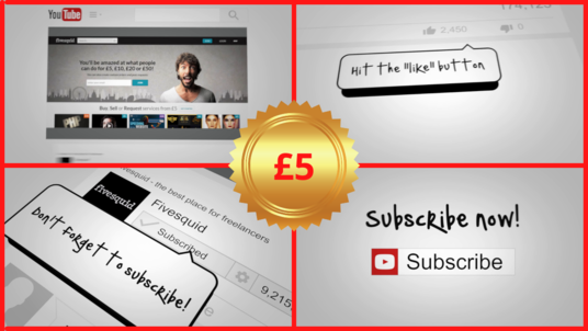 create a custom YouTube Social Booster Outro within 24 hrs