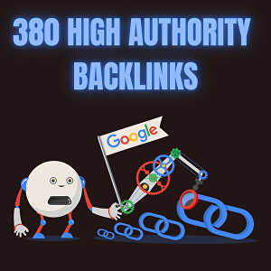 I will build 380 high authority SEO backlinks to push you to the top of Google rankings