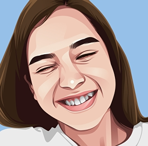 I will draw cartoon vector portrait with your face