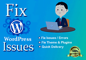I will fix WordPress bugs, errors, and issues quickly