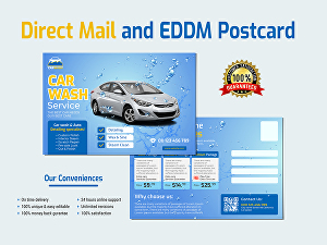 I will design eye-catchy direct mail eddm postcard in 24hrs