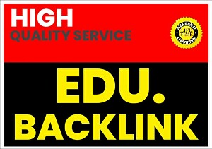 I will  Create 80 EDU High-Quality backlinks For your Website