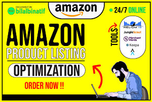 I will craft a perfect amazon product listing and amazon listing optimization