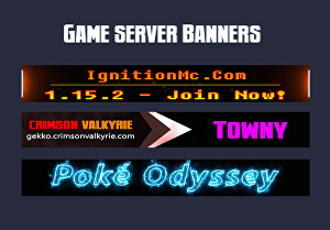 I will create an animated banner for game servers like minecraft, rust, ark