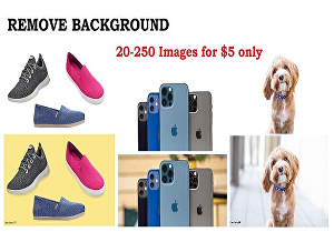 I will remove 25 background images