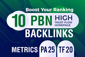 I will Build 10 High Trust Flow Home Page PBN Backlinks