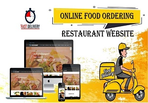 I will create a restaurant website with online food ordering for your business