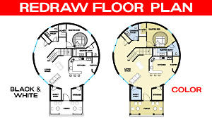 I will redraw floor plan, convert pdf to cad, pdf to dwg, pdf to Autocad with scale