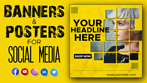 I will design professional social media banners