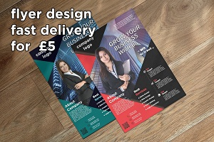 I will create awesome flyer design for your business