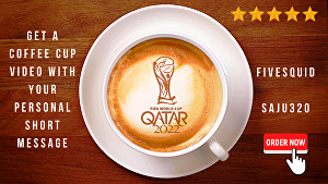 I will create a coffee cup latte art video with your logo and short personal message