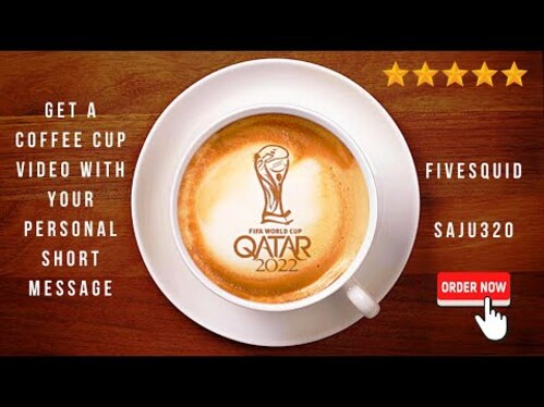create a coffee cup latte art video with your logo and short personal message