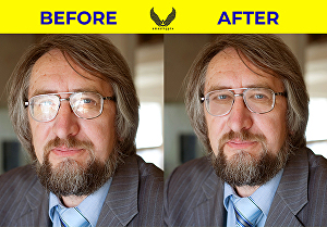 I will remove glares and reflections from eyeglasses and any objects in Photoshop