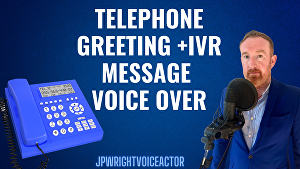 I will record a voicemail greeting or IVR phone message voice over