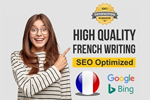 I will write SEO optimized content in French for website or blogs