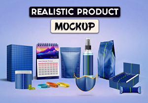 I will create 3d realistic product mockups so fast