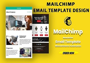 I will design your Mailchimp newsletter template