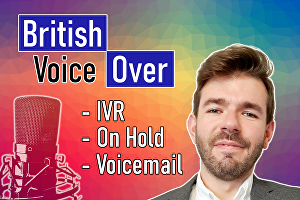 I will record a professional Voicemail Greeting, On-Hold message or IVR Voice Over of up to 100 w