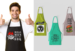 I will create designs for aprons (kitchen appliances) - 2 Designs