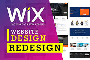 I will design or redesign an attractive wix website and create a well functioning wix website sto