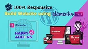 I will build a website with elementor pro page builder and happy addons pro