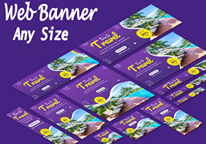 I will design awesome web banner