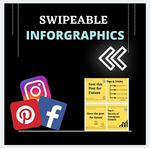 I will design attractive Instagram corousels inforgraphics for you