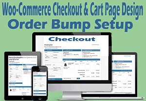 I will redesign Woo-Commerce cart page, checkout page and order bump setup