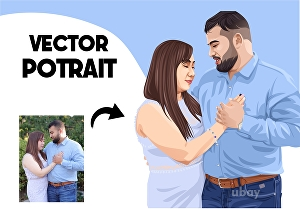 I will draw amazing couple,family illustration from your photo