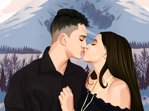 draw amazing couple,family illustration from your photo